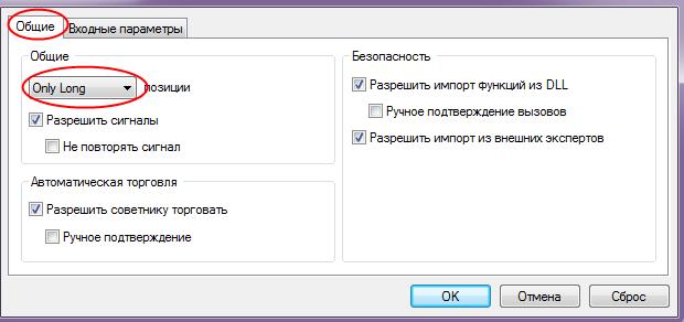 Скриншот из терминала МТ4